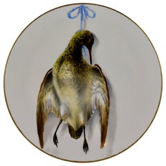 19th Century EF Bodley Staffordshire Dead Game Aesthetic Cabinet Plate, A Snipe