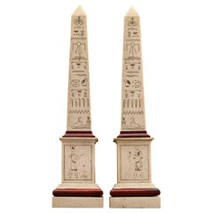 19th Century Egyptian Revival Obelisk Models