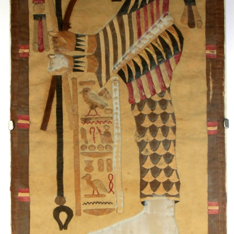 19th Century Egyptian Textile Fragment In Fair Condition For Sale In Esbeek, NL