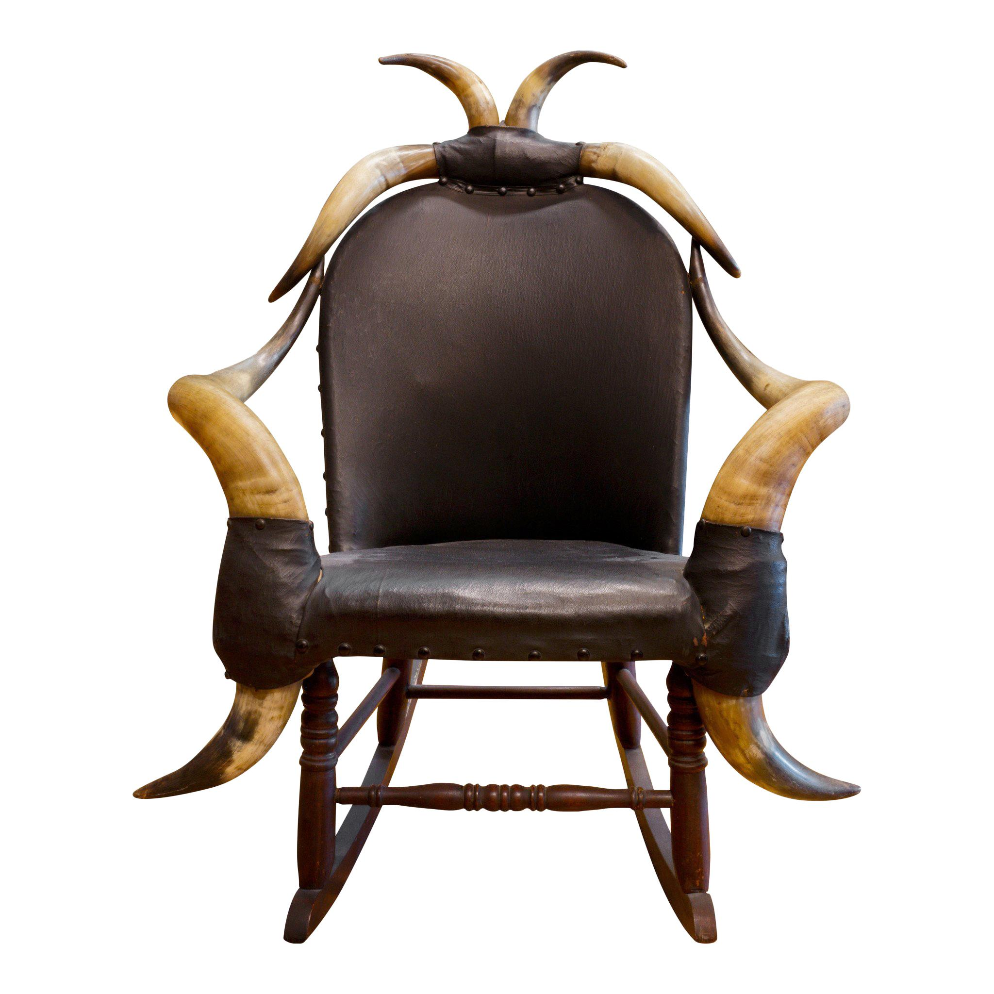 19th Century Eight Horn Rocking Chair