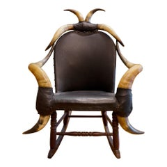 19th Century Eight Horn Rocking Chair