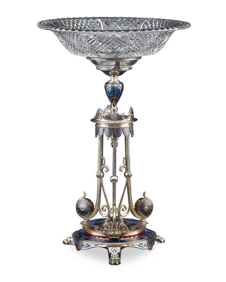 English 19th Century Elkington Garniture Set For Sale