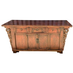19th Century Elm Chinese Sideboard