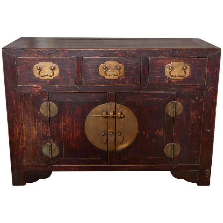 19th Century Elm Coffer Cabinet / Console, Tianjin China
