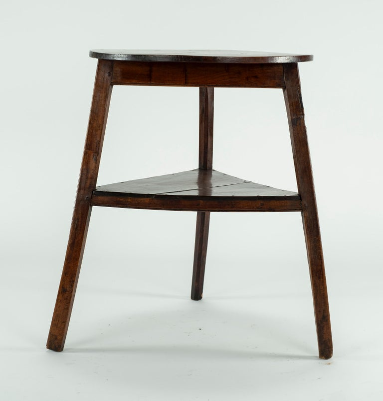 English 19th Century Elm Cricket Table For Sale