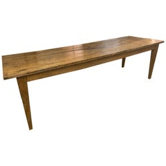 19th Century Elm Rustic Large Farmhouse Table