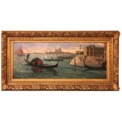 19th Century Emilio Vasarri, Antique Painting, Venice