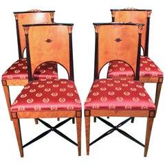 19th Century Empire Birchwood  Russian Chairs