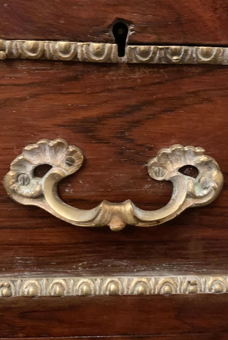 19th Century Empire Bronze Mounted Antique Davenport Desk For Sale 14