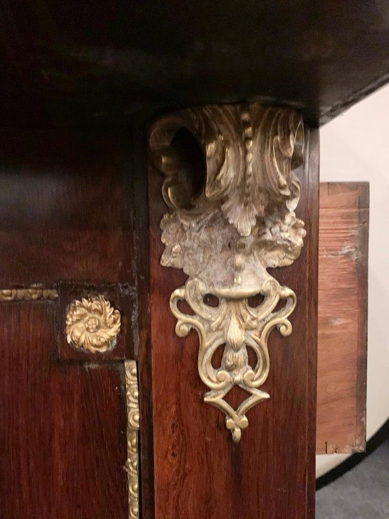 19th Century Empire Bronze Mounted Antique Davenport Desk For Sale 1
