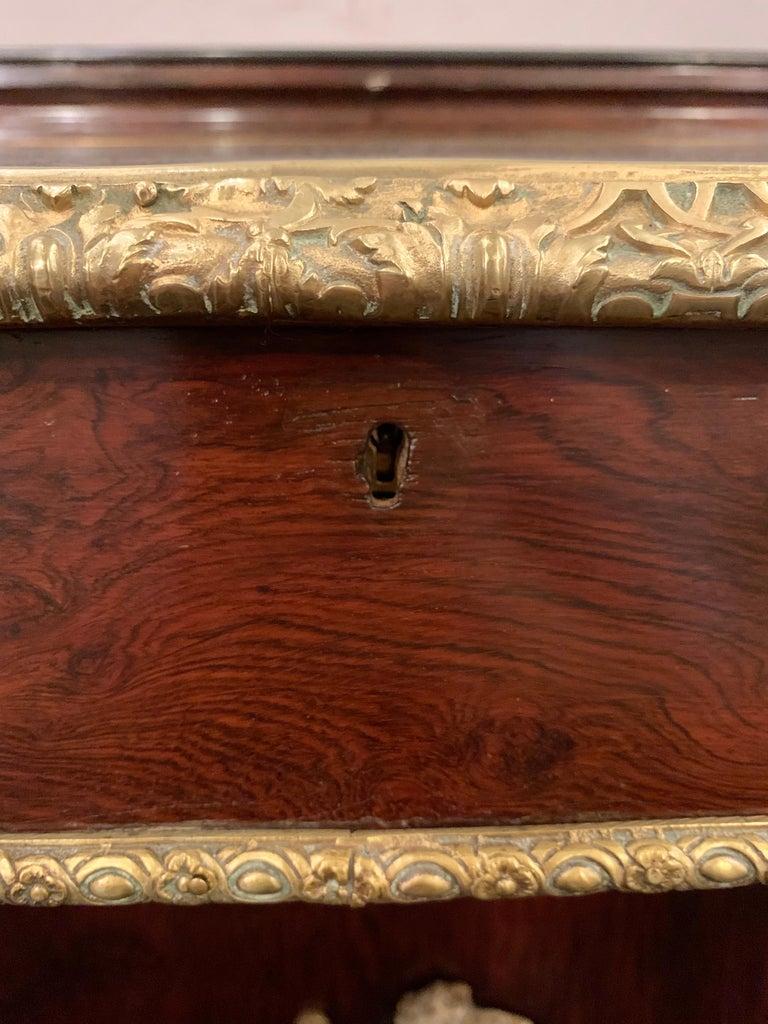 19th Century Empire Bronze Mounted Antique Davenport Desk For Sale 3