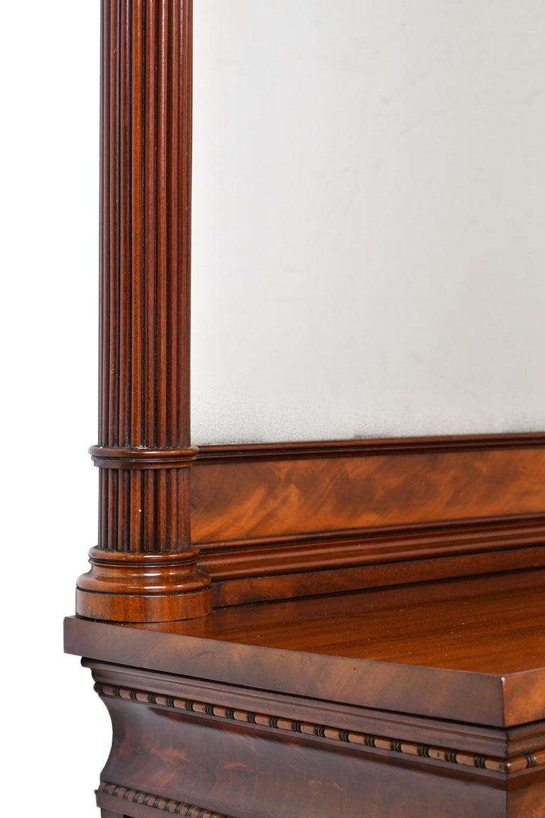 Tall Neoclassical-Style Console & Pier Mirror in Mahogany, Denmark, c. 1830 For Sale 6