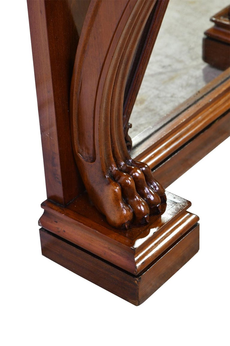 Tall Neoclassical-Style Console & Pier Mirror in Mahogany, Denmark, c. 1830 For Sale 7
