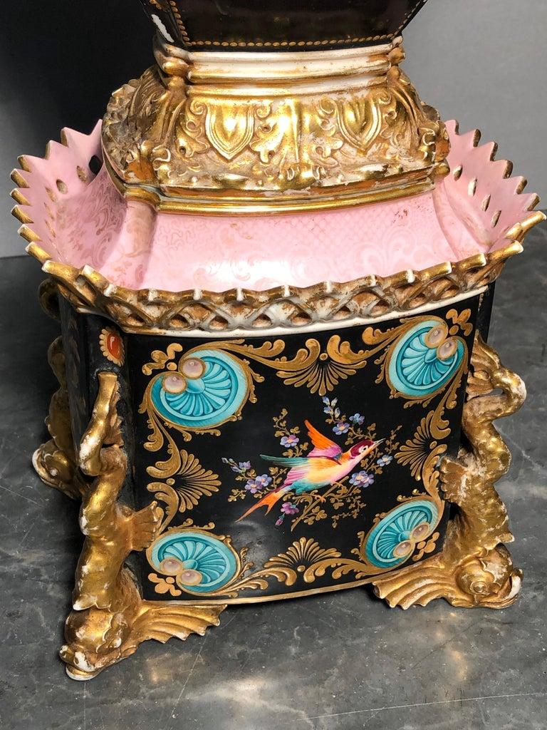 19th Century Empire France Porcelain Vase J.Petit, circa 1830 For Sale 3