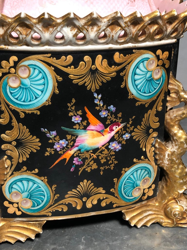 19th Century Empire France Porcelain Vase J.Petit, circa 1830 For Sale 4