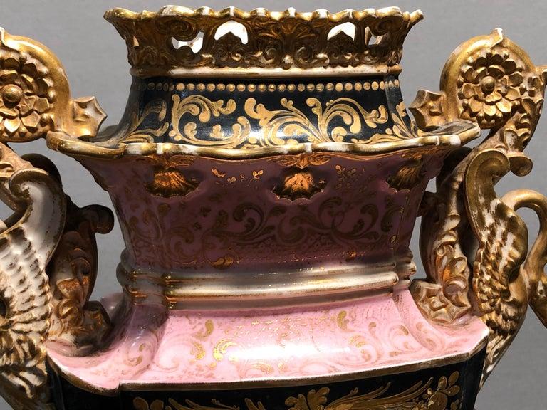 19th Century Empire France Porcelain Vase J.Petit, circa 1830 For Sale 6