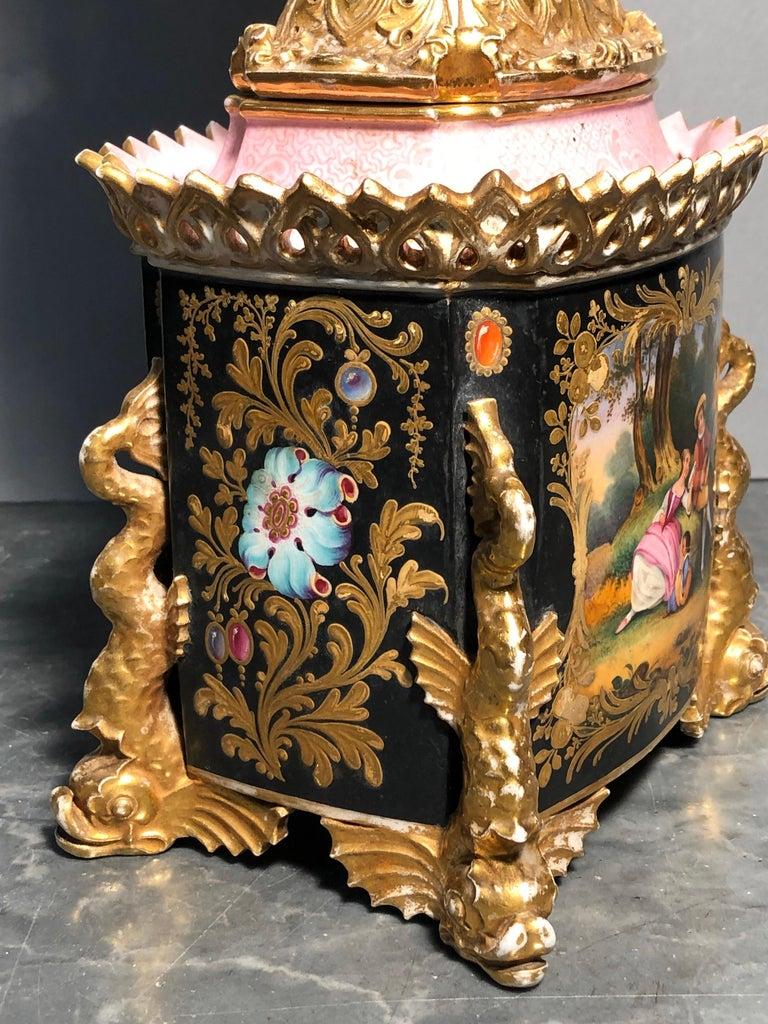19th Century Empire France Porcelain Vase J.Petit, circa 1830 For Sale 1