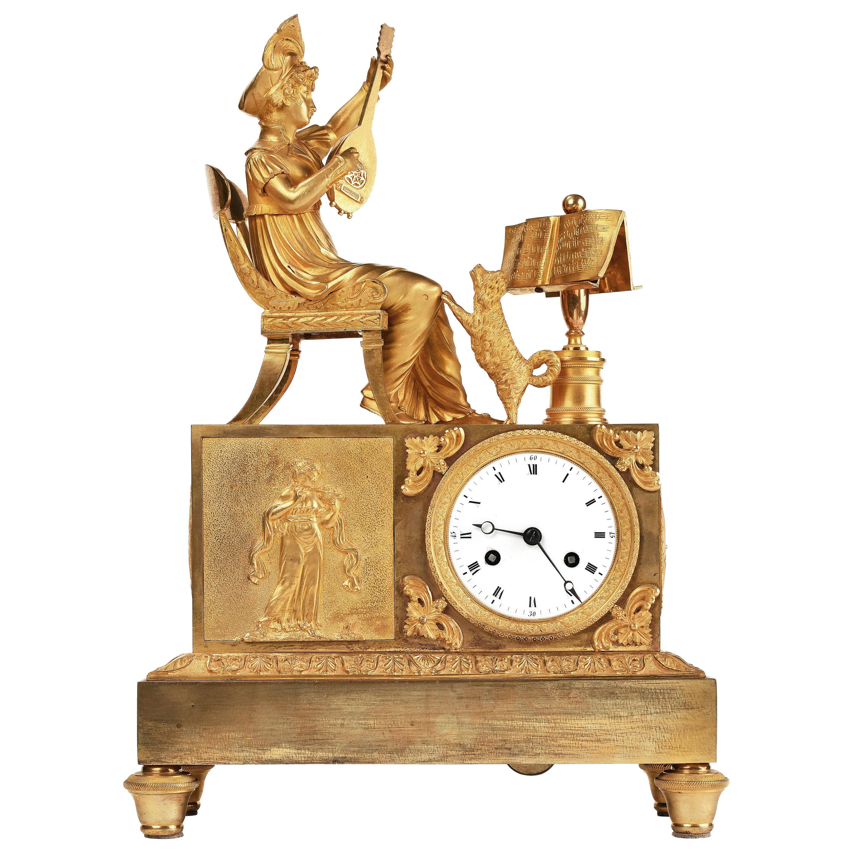 19th Century Empire French Mantel Clock, circa 1820