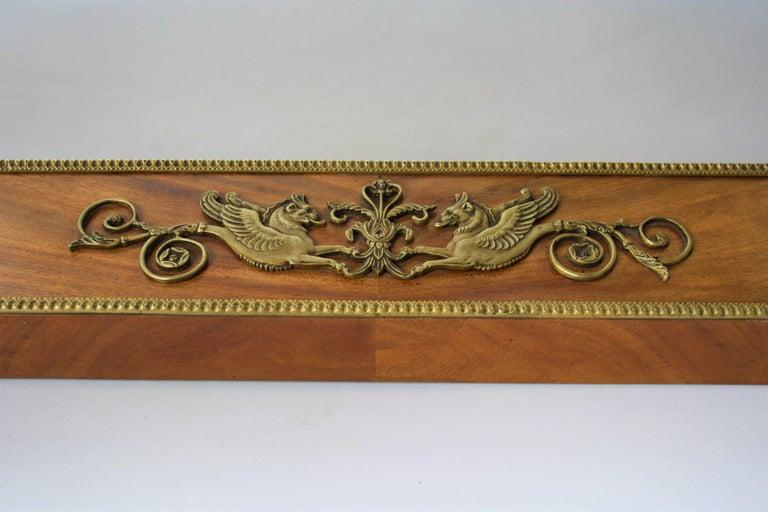 19th Century Empire Gilt Bronze Mounted Mahogany Desk after Jacob-Desmalter For Sale 8