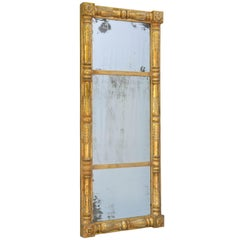 19th Century Empire Giltwood Pier Mirror