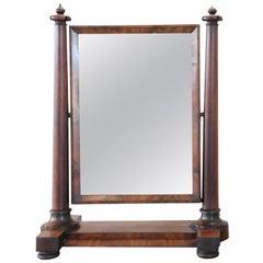 19th Century Empire Mahogany Dressing Table Mirror, 1800s
