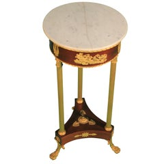 19th Century Empire Mahogany Gilt Bronze Russian Gueridon Table