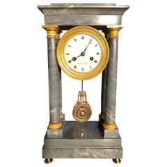 19th Century Empire Marble France Clock