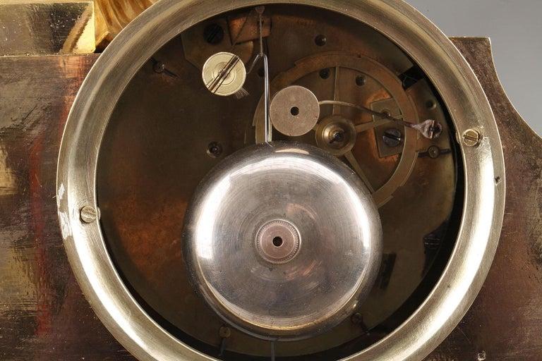 19th Century Empire Ormolu Mantel Clock, Fidelity For Sale 10