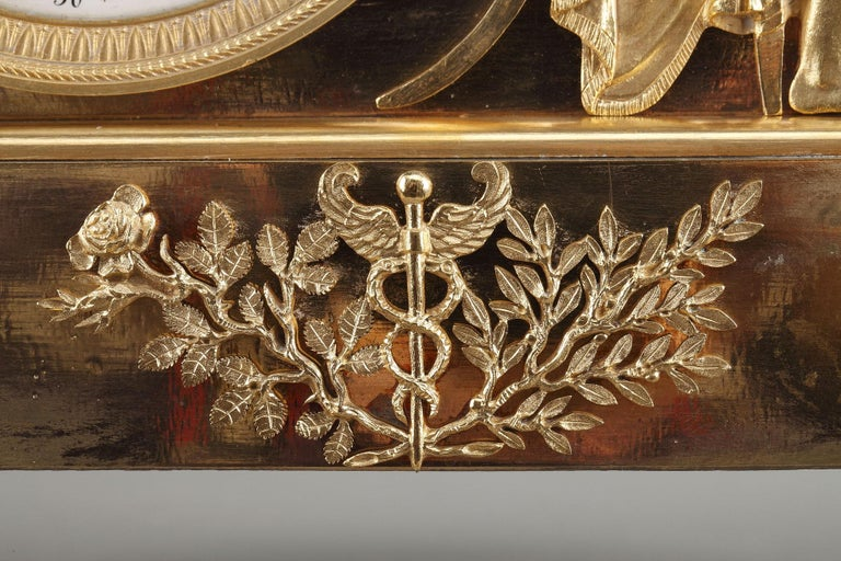 19th Century Empire Ormolu Mantel Clock, Fidelity For Sale 1