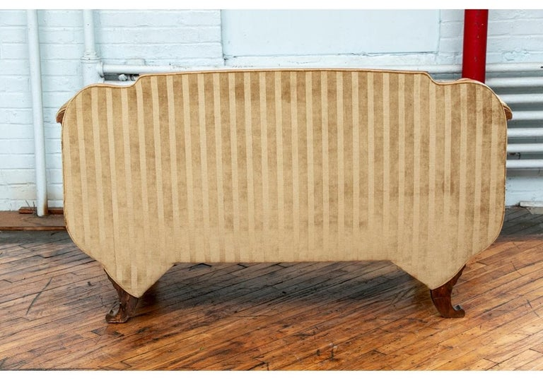 19th Century Empire Period Burled Wood Sofa For Sale 8