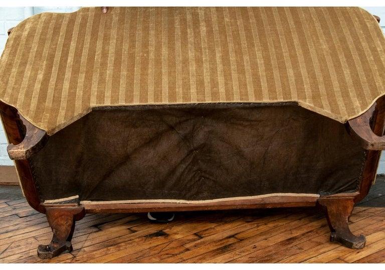 19th Century Empire Period Burled Wood Sofa For Sale 9