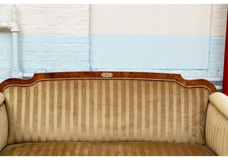 19th Century Empire Period Burled Wood Sofa For Sale 1