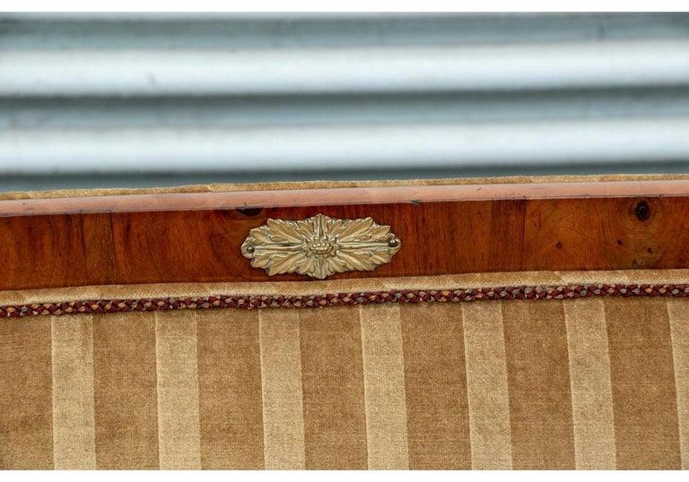 19th Century Empire Period Burled Wood Sofa For Sale 2