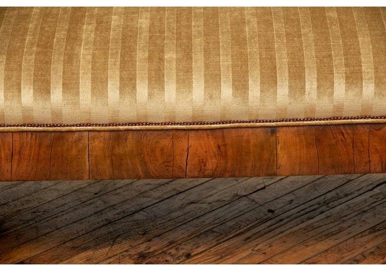 19th Century Empire Period Burled Wood Sofa For Sale 3