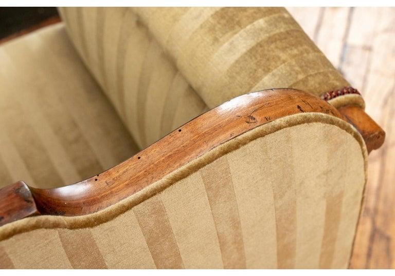 19th Century Empire Period Burled Wood Sofa For Sale 6