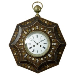 19th Century Empire Period Tole Cartel Clock