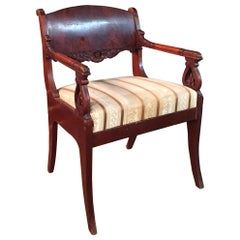 19th Century Empire Style a Russian Armchair Mahogany