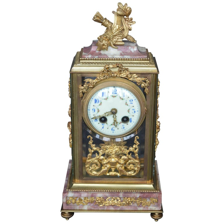 19th Century Empire Style Clock For Sale