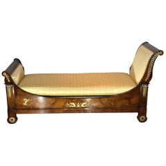19th Century Empire Style Dormeuse