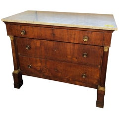 19th Century Empire Walnut Chest and Drawers Italian Lucca, 1800s