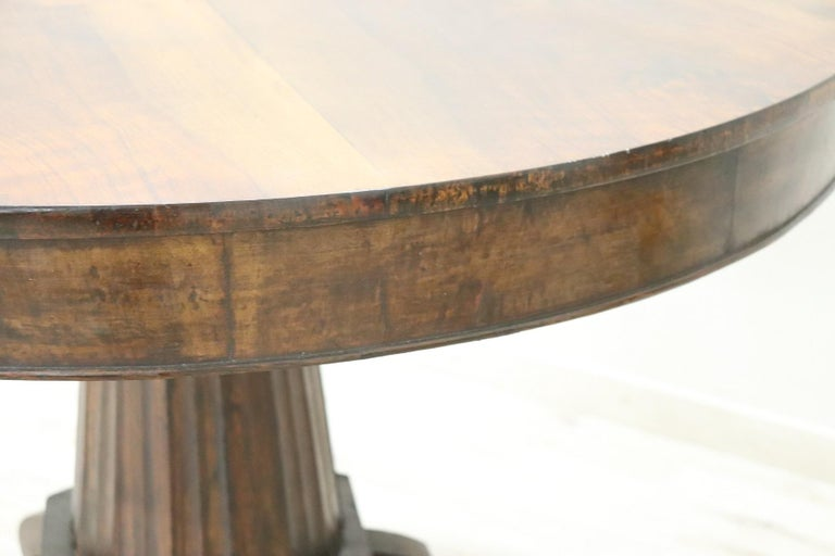 19th Century Empire Walnut Round Centre Table For Sale 2