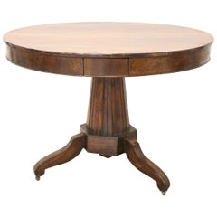 19th Century Empire Walnut Round Centre Table