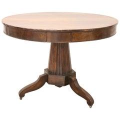 19th Century Empire Walnut Round Centre Table
