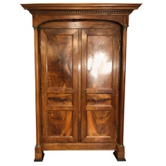 19th Century France Empire Walnut Wardrobes Armoires 1800