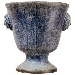 19th Century Enamel Cast Iron Vase De Rouen