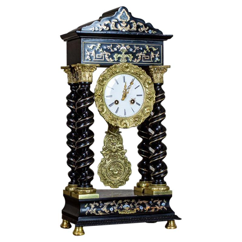 19th Century Encrusted Mantel Clock