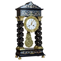 19th Century Encrusted Mantel Clock