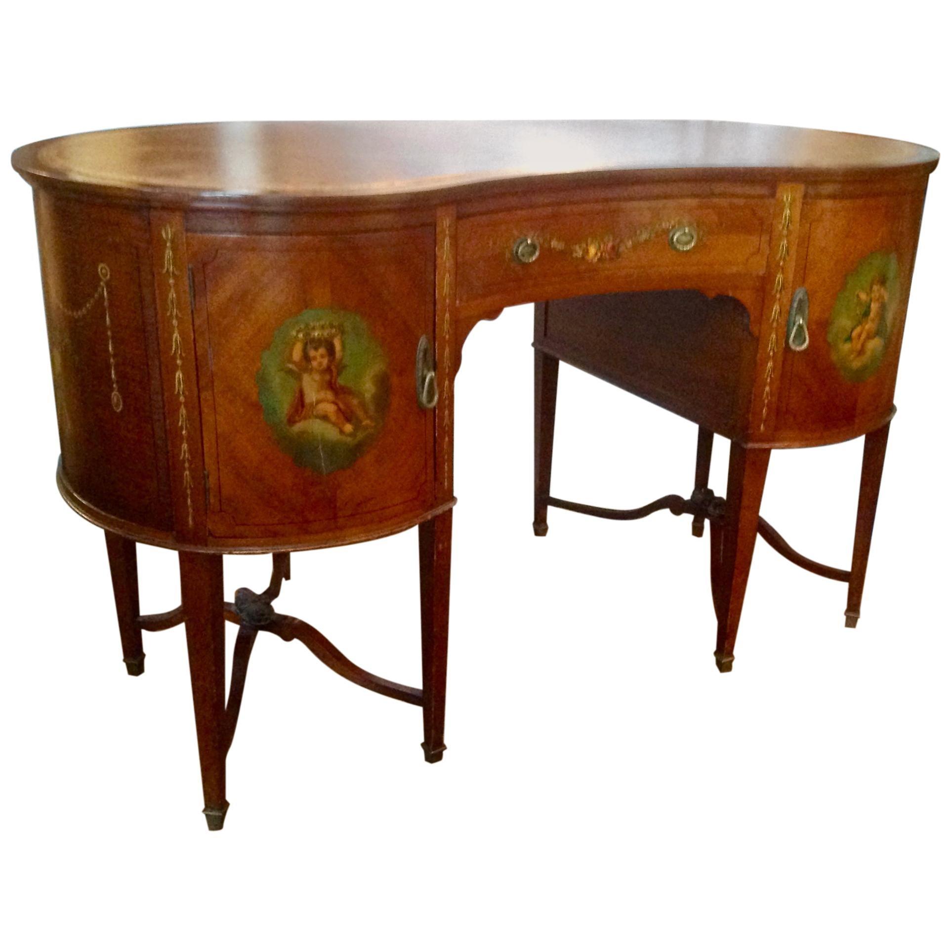 19th Century English Adam Style Vanity