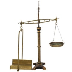 19th Century English and Brass Iron Scale
