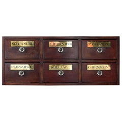 19th Century English Apothecary Drawers